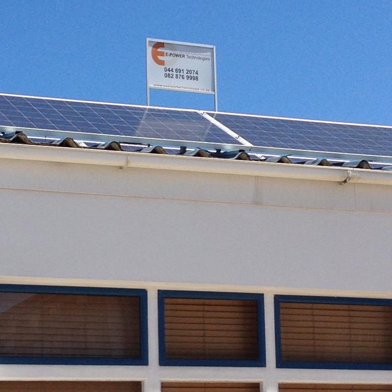 2,5kWp system 24 Bland str Mossel bay