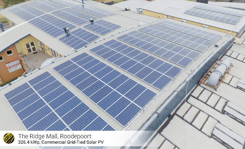 326kWp Ridge Mall solar rooftop plant